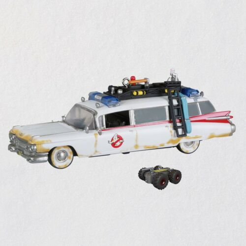 Ghostbusters Afterlife Ecto-1 And R.t.v. Ornaments With Sound And Light Set Of 2