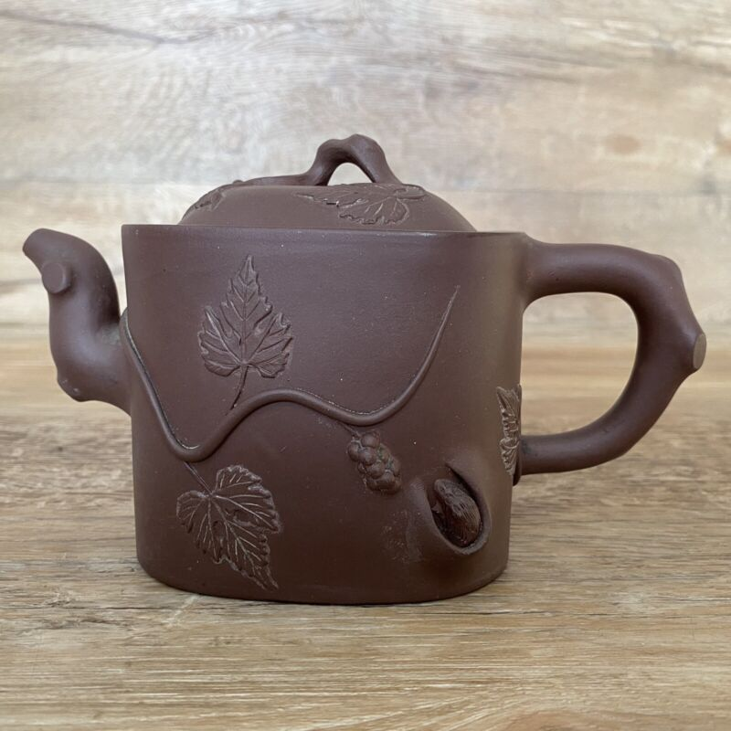 Antique Chinese Yi-Hsing Yangtze River Clay Teapot Owned By Titanic Survivor