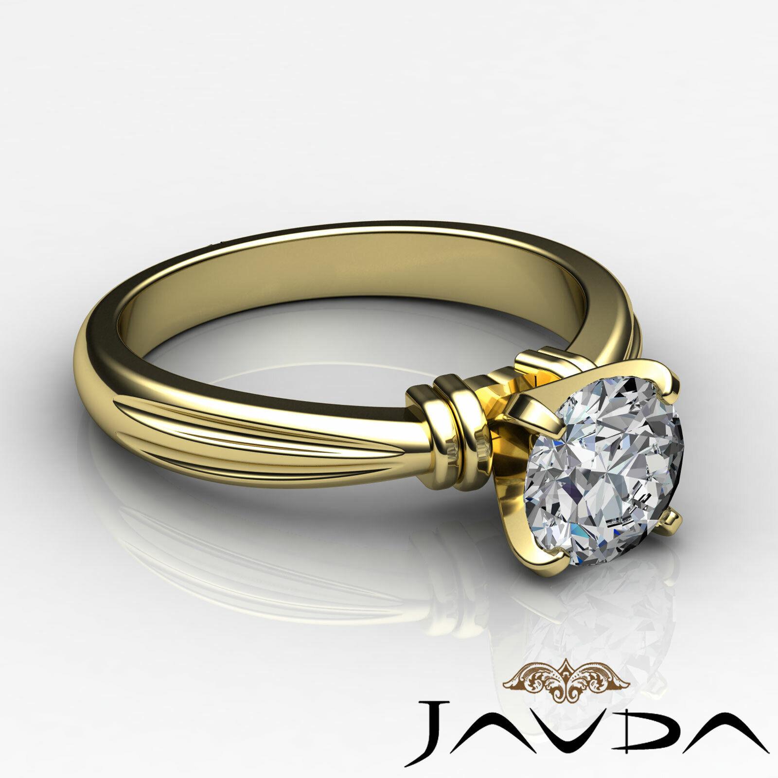 Round Solitaire Natural GIA H Color VVS2 Diamond Women's Engagement Ring 1 ctw. 5