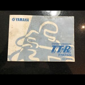 Yamaha 1999 TTR Owners Manual