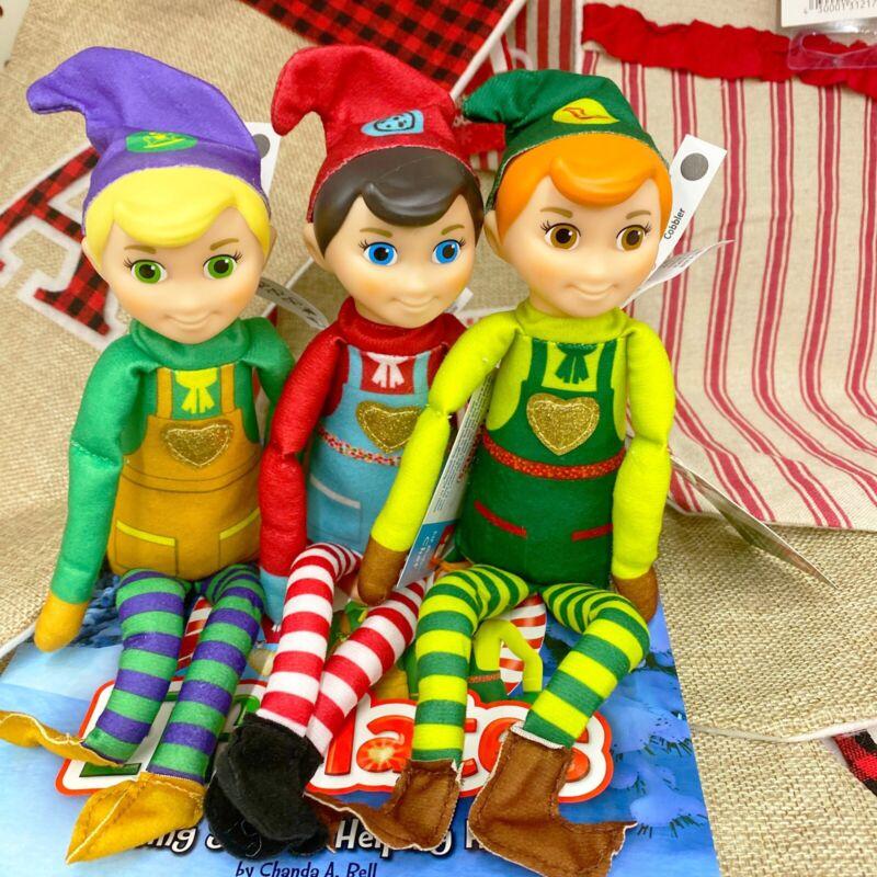 NEW Elf Mates Set Of 3 + Book Elf On The Shelf