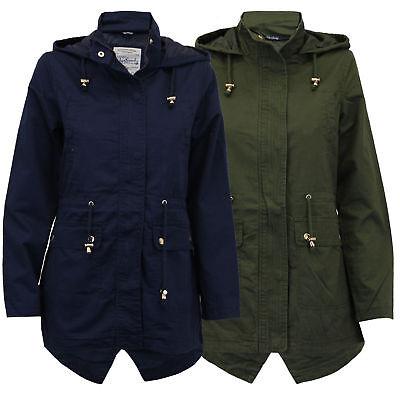 Womens Tokyo Laundry Latitude Cotton Hooded Light Weight Parka Jacket Size 8-16 Lightweight-parka