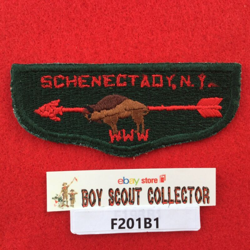 Boy Scout OA Sisilija Lodge 19 S2 Order Of The Arrow Flap Patch Schenectady, NY