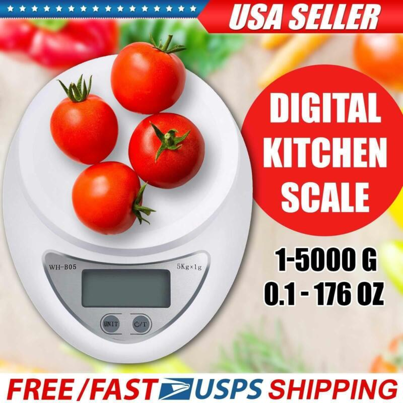 5kg 5000g/1g Digital Kitchen Food Diet Electronic Weight Balance Scale + Manual