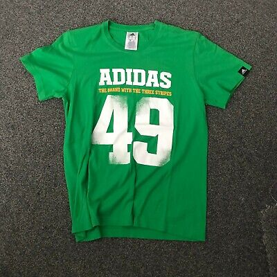 ADIDAS EQUIPMENT GREEN T-SHIRT MEN'S USED SIZE S  (B11)