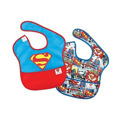 Baby Super Bib Drooling Absorbent Soft Material Stain Resistant DC Comics Design - $14.06