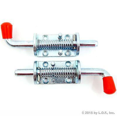 """2 Pcs Metal Lock Barrel Bolt Spring  Loaded Latch 6.5"""" Long w/ Grip Heavy Duty"""