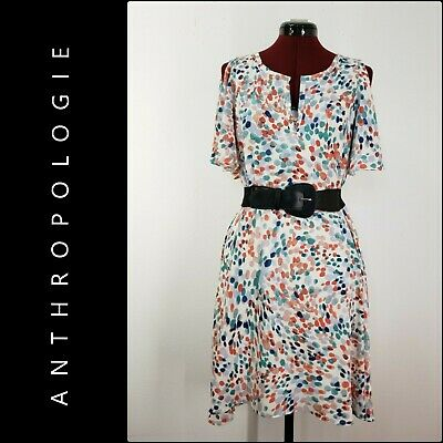 Maeve Anthropologie Women's Career Formal Cold Shoulder Fit & Flare Dress Large