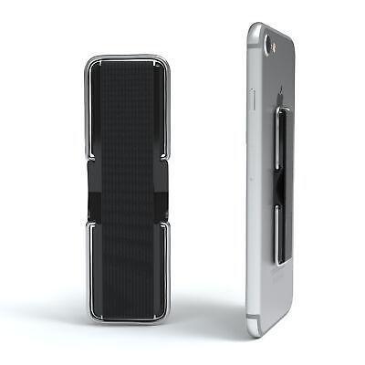 Finger Halter Griff Halterung Grip Samsung Galaxy iPhone Tisch Ständer Schwarz