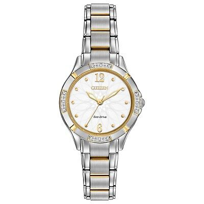 Citizen Eco-Drive Women's Diamond Accents Two-Tone 30mm Watch EM0454-52A