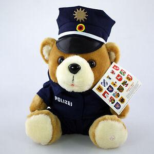 Polizei Teddy Vario Blue Achteck Mütze