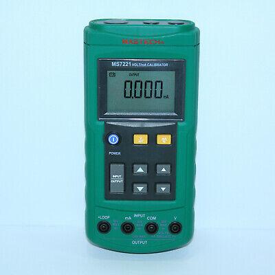 Mastech Ms7221 Voltage Current Calibrator Dc Current Loop Dc Voltage Tester