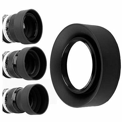 77mm Collapsible 3in1 Rubber Lens Hood for Canon Nikon Camera 1 Collapsible Rubber Lens