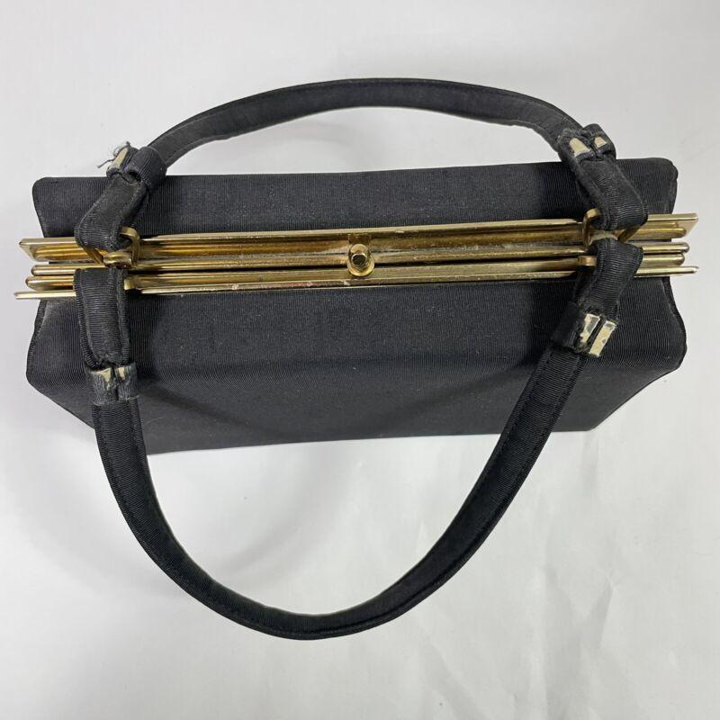 Vintage Retro Mod Purse Handbag L and M Spot Lite REG Black L&M Box MCM