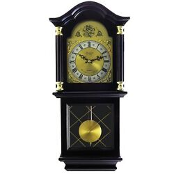 BEDFORD 26MAHOGANY CHERRY OAK FINISH GRANDFATHER WALL CLOCK with PENDULUM&CHIME