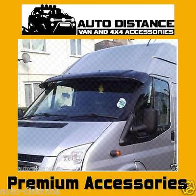 FORD Transit MK6-MK7 Sun Visor Solid Black Acrylic 2002-2013 LOW AND HIGH ROOF