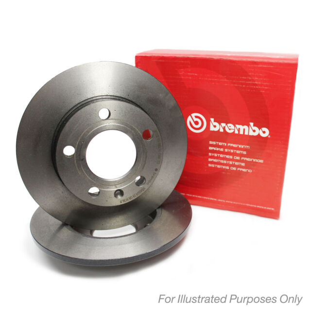 Brembo Painted Front Brake Discs Pair Genuine OE Quality Service Part