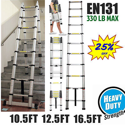Heavy Duty Aluminum Foldable Telescoping Ladder Extension Multi-purpose Folding