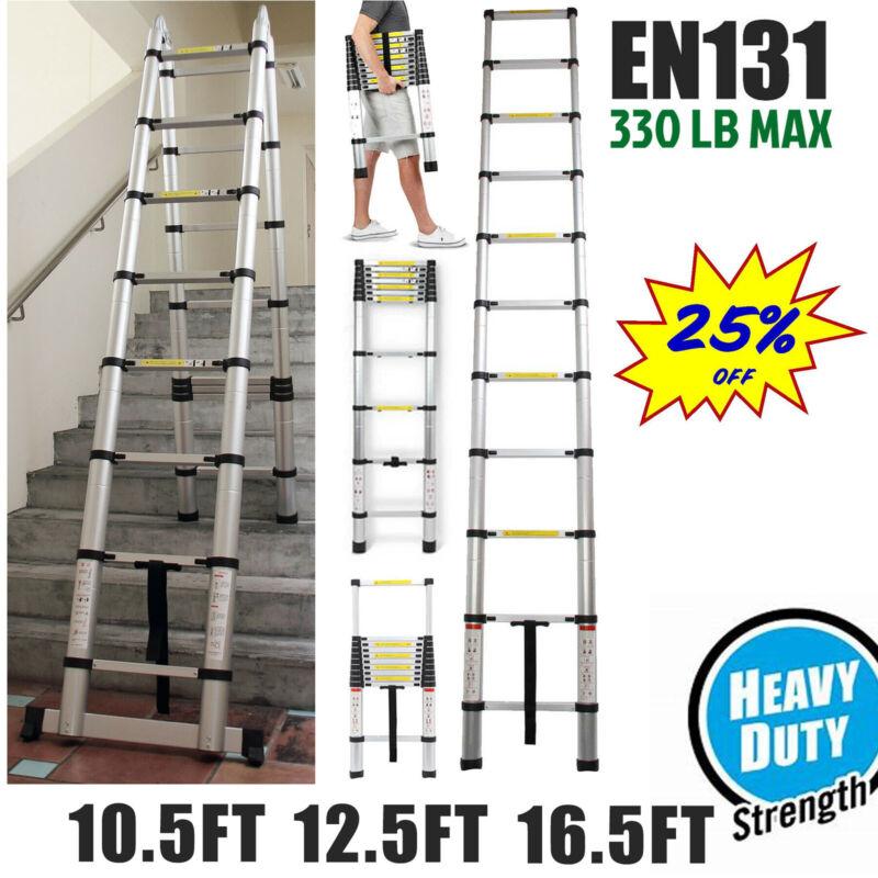 Heavy Duty Aluminum Foldable Telescoping Ladder Extension Multi-Purpose Folding