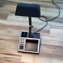 Vintage Spartus Alarm Clock / Desk Lamp Combo Retro Works Great, Bulb Included!