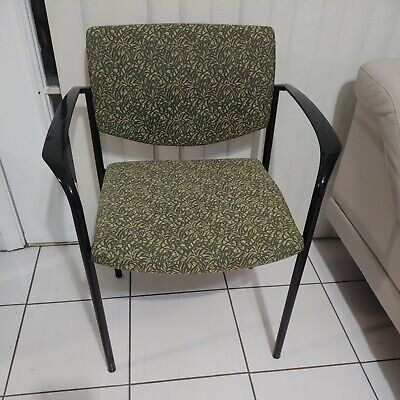 Free Pick Up Steelcase Waiting Roomoffice Chairs Heavy Duty Padded Green