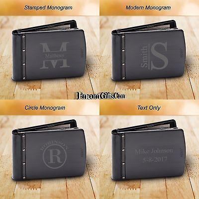 Personalized Zippo Black Titanium Wallet Rfid Blocking Credit Card Anti Theft