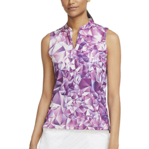 Nike Womens Dri-FIT Victory Print Sleeveless Golf Polo Shirt Purple, PICK SIZE