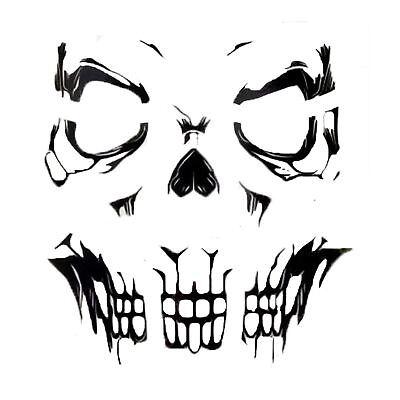 Adults Gothic Skeleton Skull Face Tattoos Transfers SFX Stickers Bone Halloween](Halloween Face Transfers)