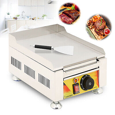 Bbq Flat Electric Fried Griddle Commercial Cooking Grill Iron Furnace 110v