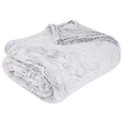 Luxuries Shimmer Fleece Throw, Faux Fur Winter Warm Blanket Throws, Sherpa Throw