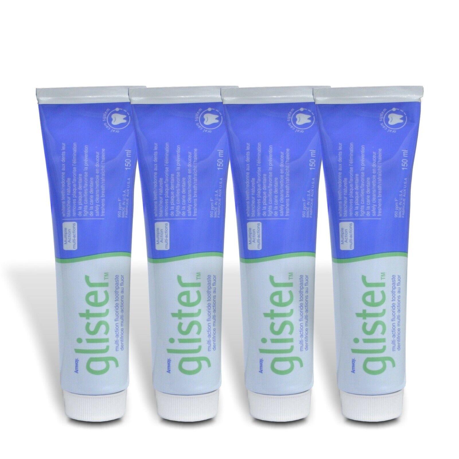 4 x Zahnpasta AMWAY™ Glister™ Fluorid - Zahncreme mit Mehrfachwirkung 4 x 150ml
