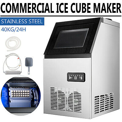 3x8pc 90lb Built-in Commercial Ice Maker Undercounter Freestand Ice Cube Machine