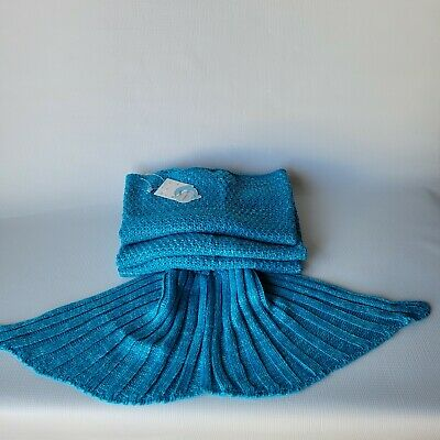 LAGHCAT Home Textile Mermaid Tail Blanket Crochet Sleeping