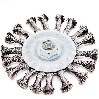 1x Scheibenbürsten 100 mm Drahtbürste gezopft Kegelbürste Rundbürste Bürste M14