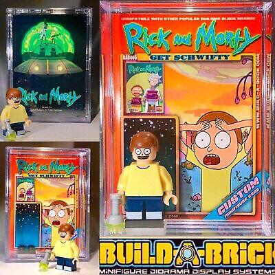 Adult swim Rick N Morty custom MINI-FIGURE w/ Display Case 465 Mini-fig