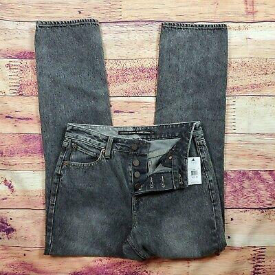Volcom Stoney Boyfriend Fit Jeans Womens SZ 27 X 30 Black Wash Buttonfly NWT Volcom Black Jeans