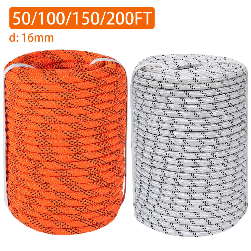 """5/8"""" Double Braid Polyester Rope Nylon Pulling Rope 8200LBS Load Sailing Rope"""