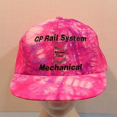 CP Rail System Mechanical Weston Shops Tie Die Truckers Baseball Dad Hat Cap ()