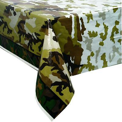Camouflage Table Cover Plastic (MILITARY CAMOUFLAGE PLASTIC PARTY TABLE COVER ARMY NEW)