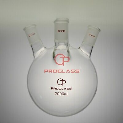 Proglass Four Necks Round Bottom Flask 2000ml 2440hand Blowering