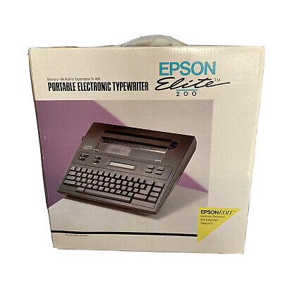 Epson Portable Electronic Typewriter Elite 200