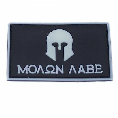 Molon Labe Patch PVC in 8 x 5 cm weiß