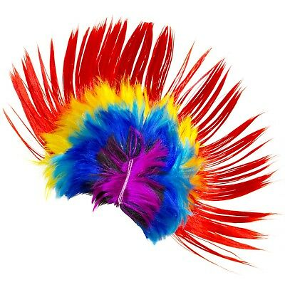 All ages Mohawk Wig Mohican Funny Rock Fancy Dress kids Party Costume Hair Hippy - Kids Mohawk Wig