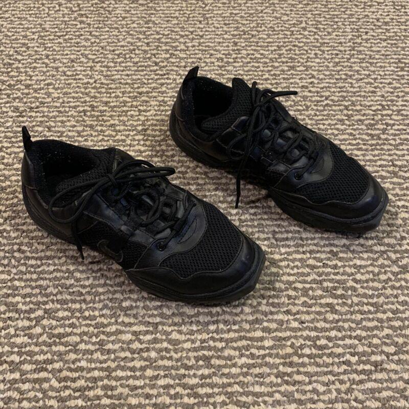 Mesh Black Split Sole Dance Sneakers, Size 7