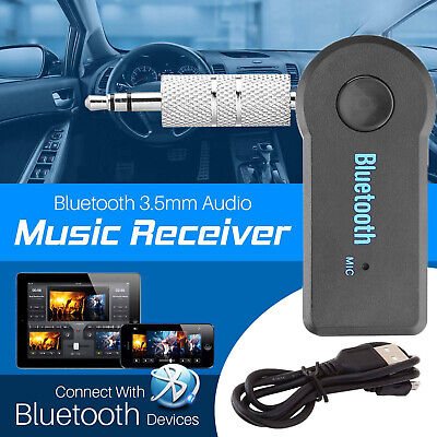 Bluetooth Audio Receiver KFZ Adapter AUX Kable Auto Klinke USB Empfänger 3,5mm