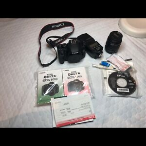 Canon Rebel T3i with 18-55mm lens & Flash...USED 5 TIMES
