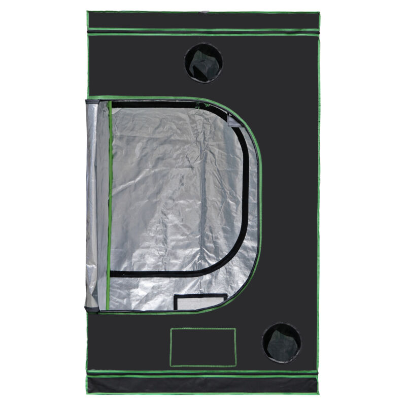 """48""""""""x48""""""""x80"""" Hydroponic Grow Tent with Observation Window and Floor Tray Indoor"""