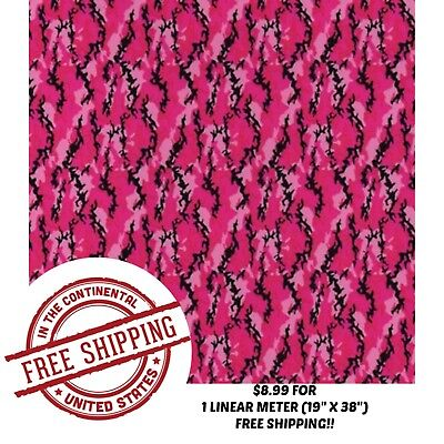 Hydrographic Water Transfer Hydro Dip Film Hot Pink Camo 1m 19 X 38