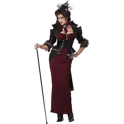 Adult Woman's Lady Of The Manor Costume Victorian Vampire Sz M (8-10) New