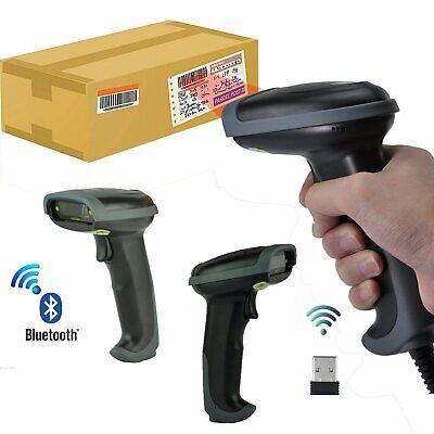 2.4g Wireless Bluetooth Laser Usb Barcode Scanner Scan Gun Label Reader Pos New